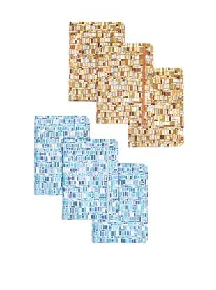 Peter Pauper Press Set of 6 Mosaic Journals