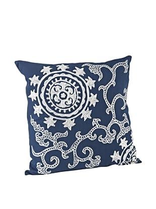 Saro Lifestyle Cobalt Blue Callisto Square Pillow