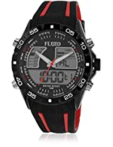 Dmf-005-Rd01 Black/Black Analog & Digital Watch Flud