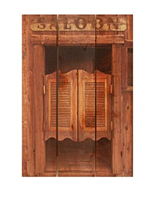 Old Saloon Door on Western Red Cedar