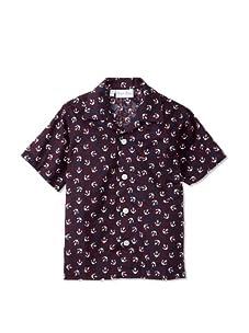 Rachel Riley Boy's Anchor Print Shirt (Navy)