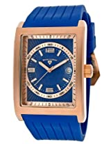 Limousine Blue Silicone Blue And Rose-Tone Dial Rose-Tone Case (40012-Rg-03)