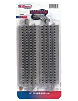 "Williams by Bachmann O Gauge E-Z Track 10"" Straight (Pack-4) - O Scale"
