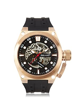 Ballast Men's BL-3105-02 Valiant Black/Rose Stainless Steel Watch