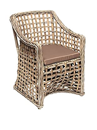 Skalny Rattan Chair With Cushion, Grey