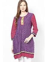 Cotton Purple Kurta Dhwani
