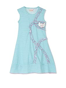 4EverPrincess Girl's Sally Dress (Blue/White)