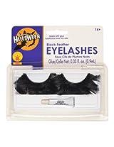 Rubie's Costume Feather Eyelash, Black, One Size