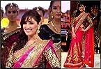 New bollywood iifa award red net saree
