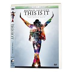 """マイケル・ジャクソン THIS IS IT コレクターズ・エディション (1枚組)(Amazon限定エコパッケージ仕様/""""アース・ソング""""バージョン/完全数量限定) [DVD]"""