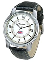 Reebok White Leather Analog Mens Watch