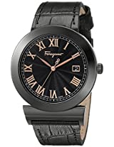 Salvatore Ferragamo Men's F71LBQ6809 S009 Grande Maison Swiss Quartz Black Dial Genuine Leather Watch