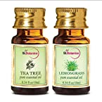 Tea Tree Oil + Lemongrass Pure Essential Oil (10ml Each)