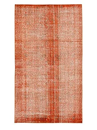 eCarpet Gallery One-of-a-Kind Hand-Knotted Anatolian Rug, Orange, 3' 10