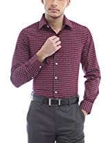 Peter England Regular Fit Shirt _ ISF61501579_40_ Maroon