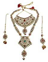 Indian Bollywood Design Crystal Made Exclusive Full Bridal Necklace Jewelry Set