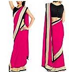 Designer Replica Pink Color Party Wedding Wear Saree