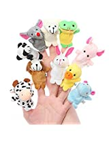 Kuhu Creations Set Of 10 Animal Finger Puppet