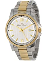 Lucien Piccard Men's 10048-SG-22S Breithorn Silver Textured Dial Two Tone Stainless Steel Watch