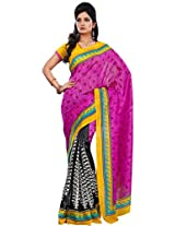 Vibes Women's Champa Bhagalpuri Saree with Blouse ( S30-5650_Multi-Coloured)