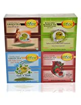GTEE Green Tea Bags - Ginseng & Hibiscus Tea Bags & Moringa Tea Bags & Green Tea Bags-Mints (10 Tea Bags X 4 PACKS)