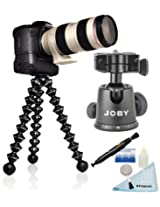 Joby Gorillapod Focus GP8 Flexible Tripod with Ball Head X + Cleaning Kit + Lens Cleaning Pen