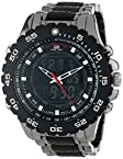 U.S. Polo Assn. Sport Men'S Black And Gunmetal Ana-Digi Bracelet Watch