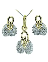 WomanWa Imperial Cubic Zircon Pendant Set in Golden Color