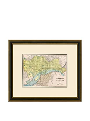 Antique Lithographic Map of Richmond, 1883-1903