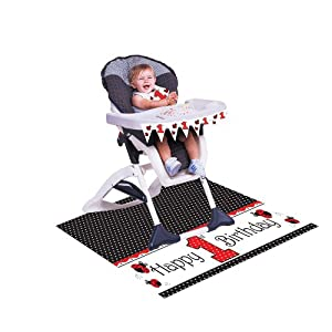 Creative Converting Lady Bug Fancy High Chair Decorating Kit