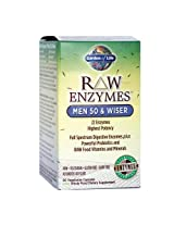 Garden of Life Raw Enzymes Men 50 and Wiser, 90 Capsules
