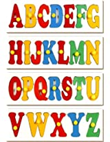 Little Genius Early Learning ABC - Set of 4 Trays, Multi Color