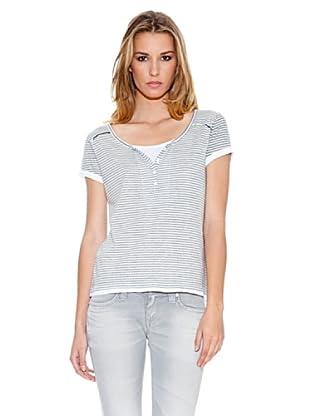 Pepe Jeans London T-Shirt Duffy (Blau/Weiß)