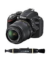 Nikon D3200 24.2MP Digital SLR Camera (Black) with AF-S 18-55mm VR Kit Lens + 4GB Card + Camera Bag + Lenspen NLP-1 Cleaning Brush (Black)