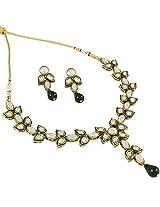 Latest Designer Kundan Stylish Party Wear Necklace Set For Women by Shining Diva