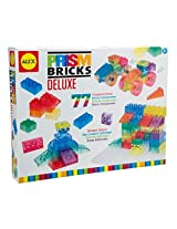 Awesome, Glowing Prism Bricks Deluxe Set: 77 Pcs 13 In. H X 2.5 In. W X 13 In. L