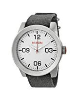 Nixon Corporal White Dial Stainless Steel Men's Watch - Nxa243100