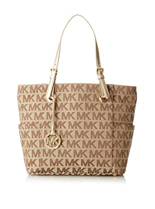 MICHAEL Michael Kors Women's East/West Signature Tote (Beige/Ebony)