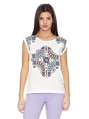 Springfield Camiseta T Etnica Pajaros (Blanco)