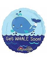 """17"""" Get Whale Soon He Xl Foil Balloon (Each)"""