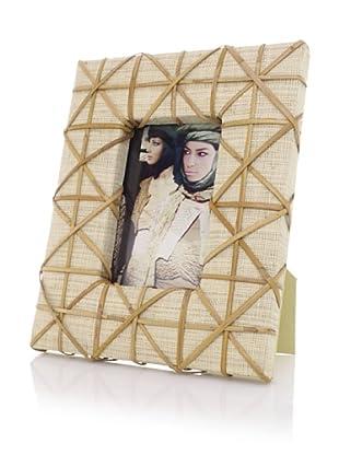Raffia Cross Weave Design 4x6 Photo Frame