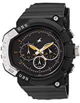 Fastrack Chronograph Black Dial Men's Watch - 38007PP02