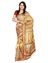 Parichay Women's Silk Saree(Brown)