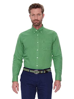 Cortefiel Camisa Lino Ppt (Verde Oscuro)