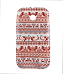 Exclusive Rubberised Back Case Cover For Motorola Moto E (1st Gen) 2014 XT1021 - Craft Designed Red Plus White