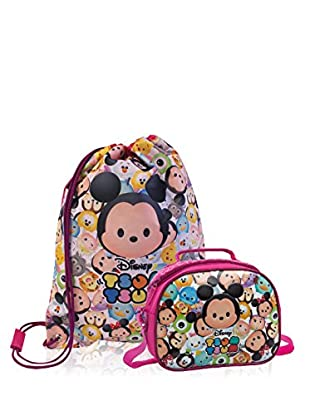 Disney Rucksack + Kulturbeutel Tsum Tsum Pink