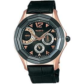 WIRED (ワイアード) 腕時計 デルタ レトログラード ラウンドモデル AGAE003 メンズ