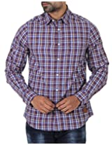 London Fog Men's Casual Shirt (8907174040400_Brown_Large)