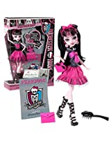 "Mattel Year 2012 Monster High ""Picture Day"" Series 11 Inch Doll Set Draculaura ""Daughter Of Dracula"" With Purse, Folder, Fearbook, Hairbrush And Doll Stand"