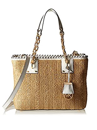 Michael Kors Schultertasche Straw Rosalie Md Ew Tote